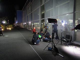 山口発地域ドラマ「朗読屋」の撮影